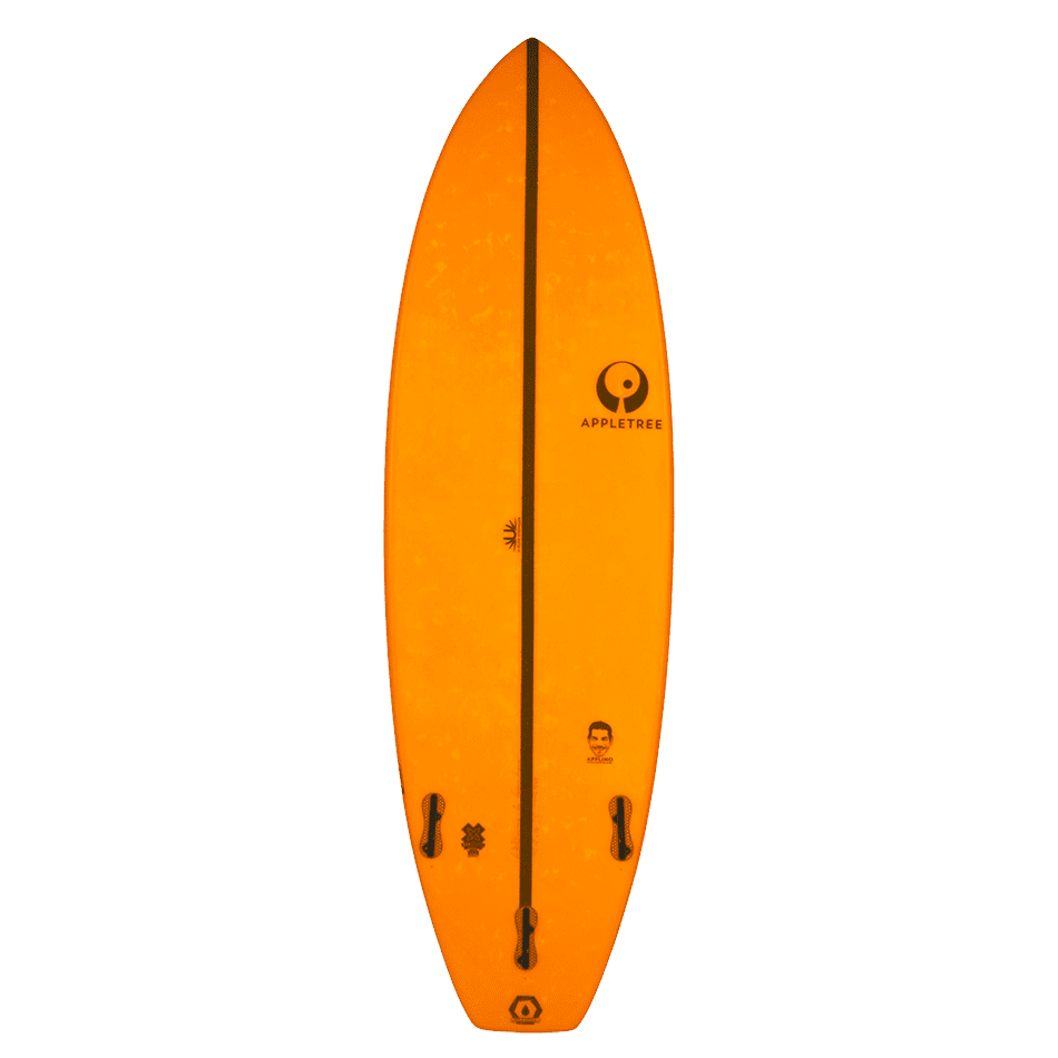 Surf Applino Bottom d'Appletree Surfboards Orange vendu par JKS