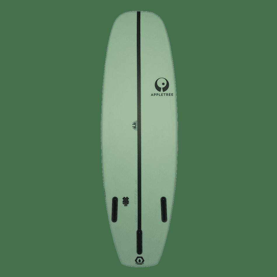 Surf de surfkite Luke'Leaf couleur menthe bottom, le Tomo d'Appletree Surfboard s