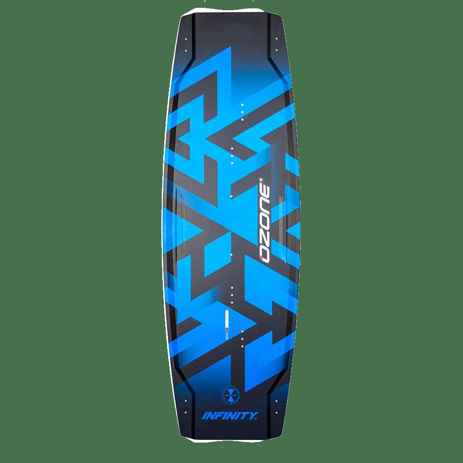 Twintip Infinity V1 (top) bleu d'Ozone Kites vendu par Jks-kitesurf