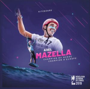 Axel Mazella champion du monde / champion d'Europe 2019 révélation du Marin de l'année 2019