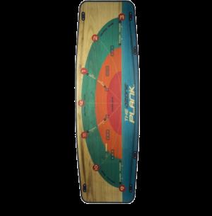 twin-tips Plank V1 (top) avec schéma de la fenêtre de vol intégrée d'Ozone Kites France /JKS