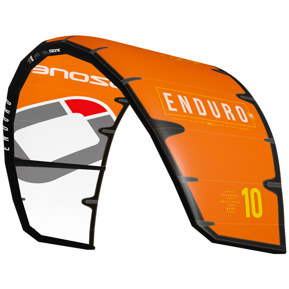 Aile à boudin polyvalent Enduro V3 d'Ozone kites orange / JKS-kitesurf