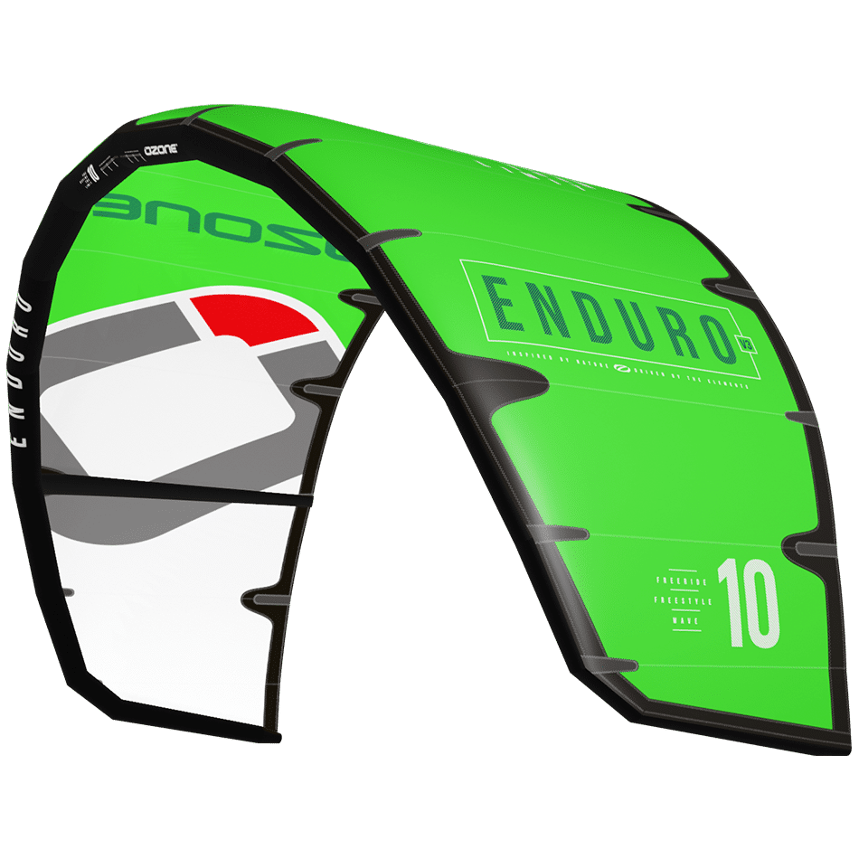 Aile à boudin polyvalent Enduro V3 d'Ozone kites vert clair / JKS-kitesurf