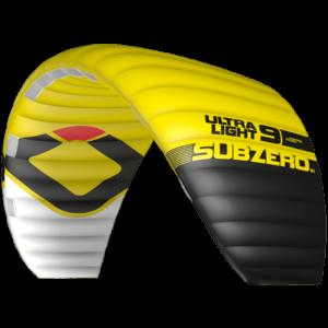 Aile de snowkite Ozone kites Ultra light Subzero UL V1 jaune / JKS-kitesurf