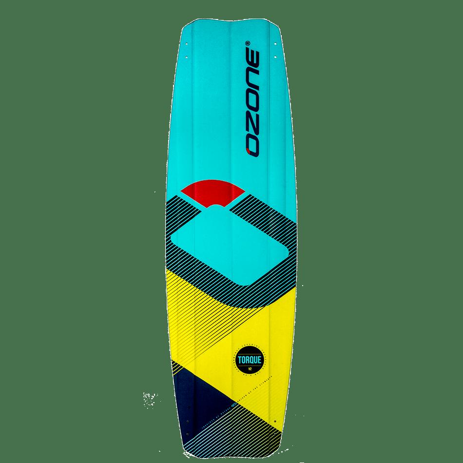 Twintip Ozone Freestyle Torque V2 couleur menthe/jaune (bottom)- JKS-kitesurf