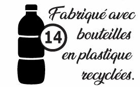 Fabriqué en 14 bouteilles recyclées